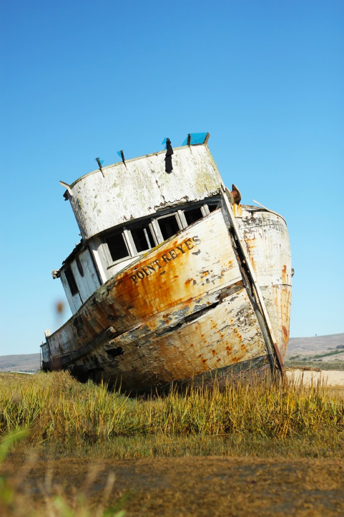 Wrecked ship_California