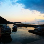 Sunset of small fishing village_Korea